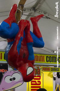 balena forestelli al lucca comics 2013 con spiderman