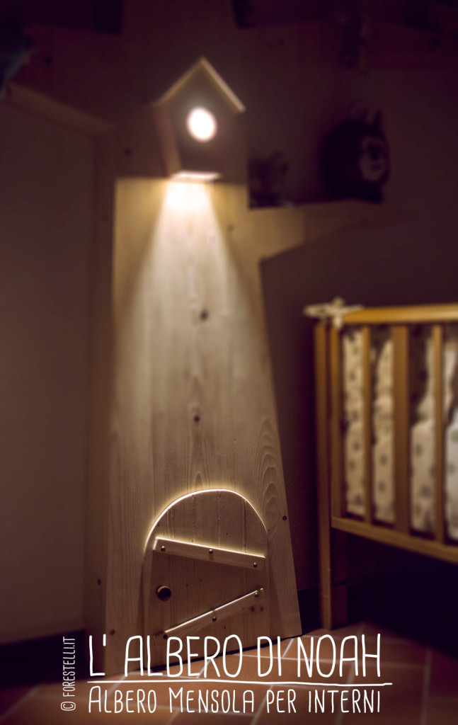 il punto luce dell'albero libreria
