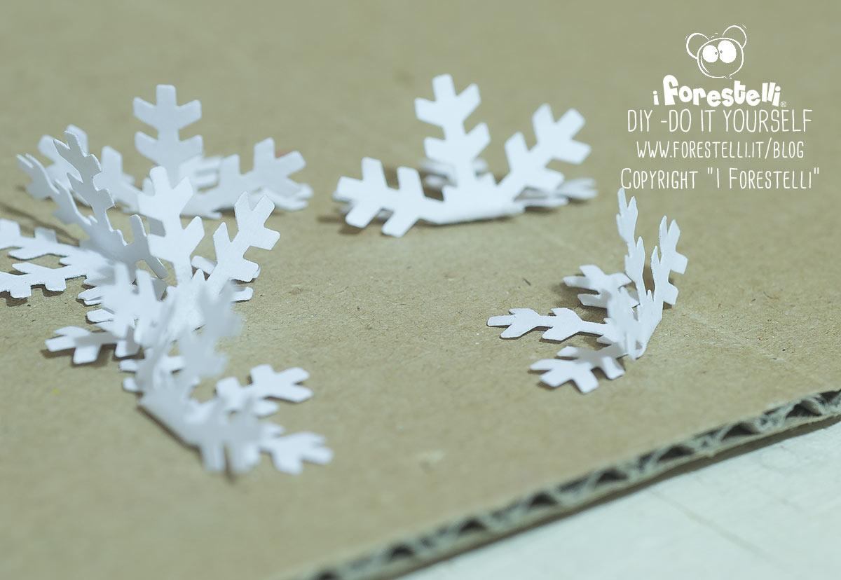 Fiocchi Di Neve Di Carta Da Ritagliare Tutorial : Cristalli di ghiaccio di carta d tutorial diy