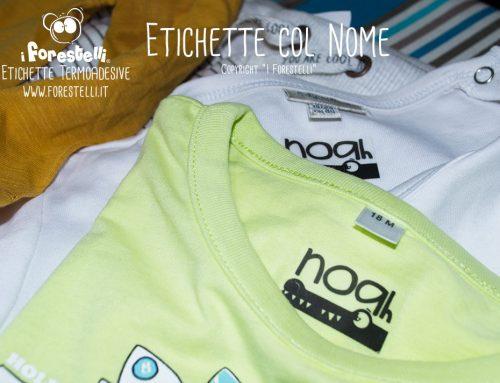 Come scrivere il nome sui vestiti con le etichette termoadesive.