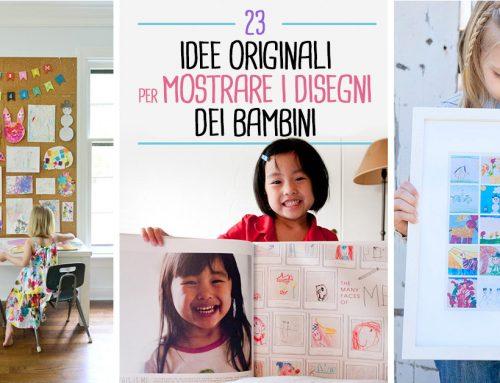 23 idee originali per mostrare i disegni dei bambini