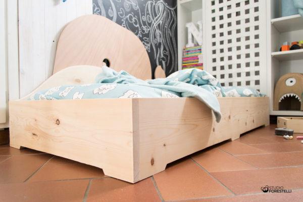 lettino montessori in legno mobyletto