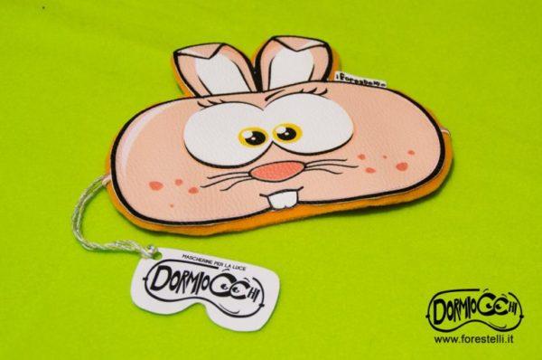 mascherina per dormire dormiocchi coniglietto rosa
