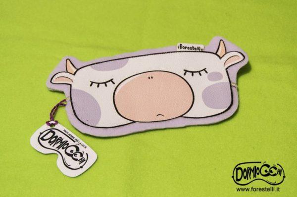 mascherina per dormire dormiocchi mucca viola