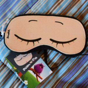mascherina per dormire dormiocchi con gli occhi chiusi