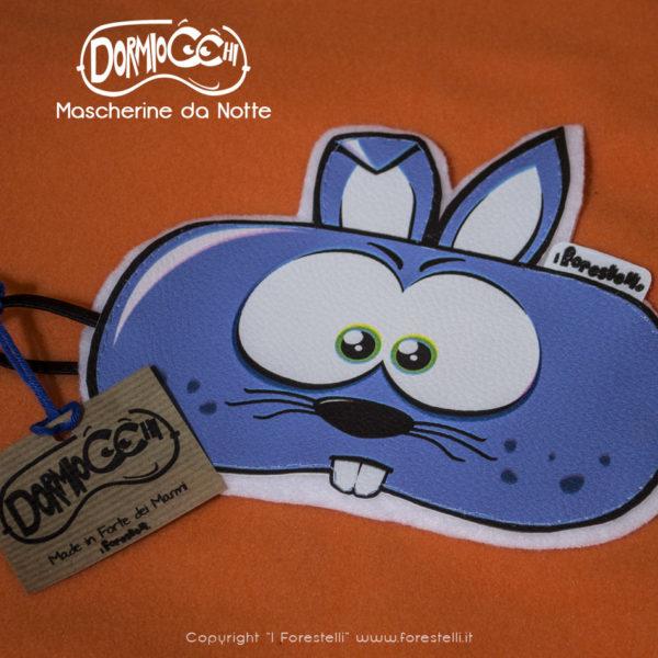 mascherina per dormire dormiocchi coniglietto blu