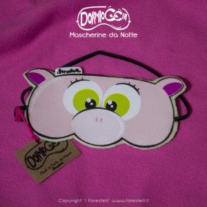 mascherina per dormire dormiocchi maialino rosa
