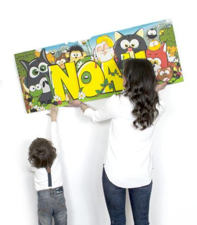 quadri personalizzati per bambini forestele
