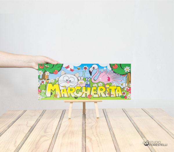forestela quadro col nome per bambini formato piccolo