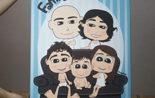 quadro personalizzato con ritratto di famiglia
