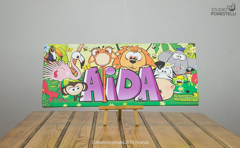 Quadro per bambini col nome Aida