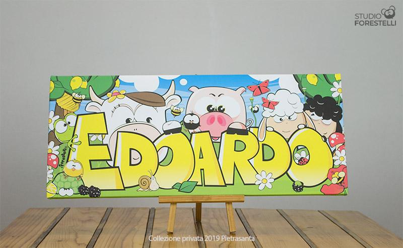 Quadro per bambini col nome Edoardo