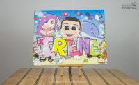 Quadro per bambini col nome Irene
