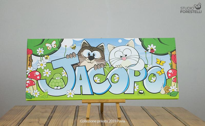 Quadro per bambini col nome Jacopo