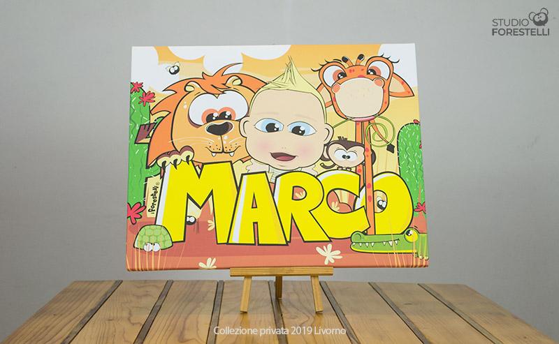 Quadro per bambini col nome Marco