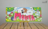 Quadro per bambini col nome Marta