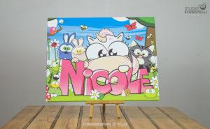 Quadro per bambini col nome Nicole