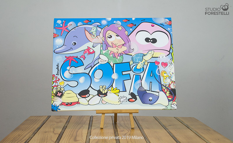 Quadro per bambini col nome Sofia